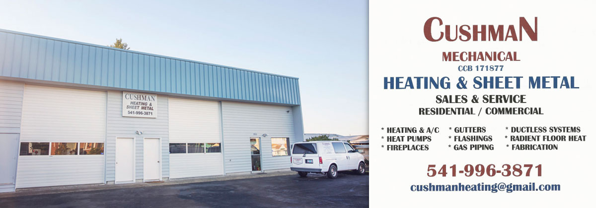 Cushman Heating And Sheet Metal Lincoln City Oregon